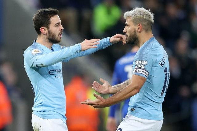 Bernardo Silva (left) and Sergio Aguero (right) are among the Manchester City absentees this weekend