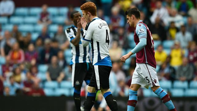 Aston Villa drew with Newcastle United, meaning both will be in the Championship next season if Sunderland beat Everton on Wednesday.