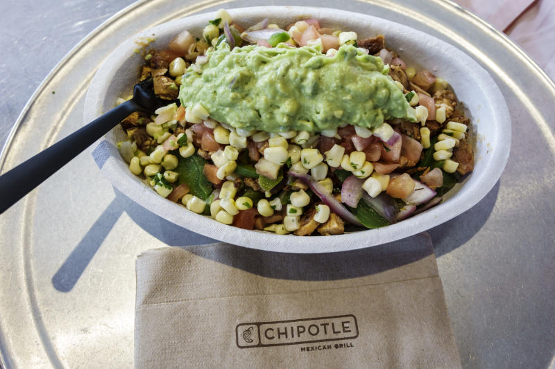 A bowl of food from Chipotle in Miami. (Photo by: Jeffrey Greenberg/Universal Images Group via Getty Images)