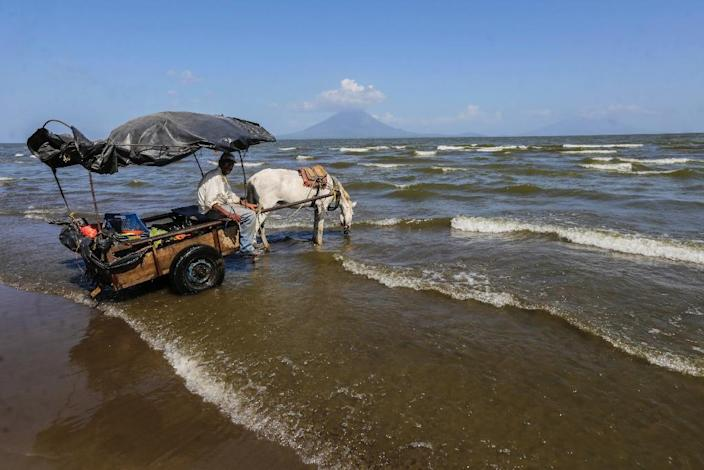 A Chinese consortium planning on building a canal across Nicaragua admitted work had been delayed, blaming the lateness of an environmental study which was approved by authorities only in November (AFP Photo/Inti Ocon)