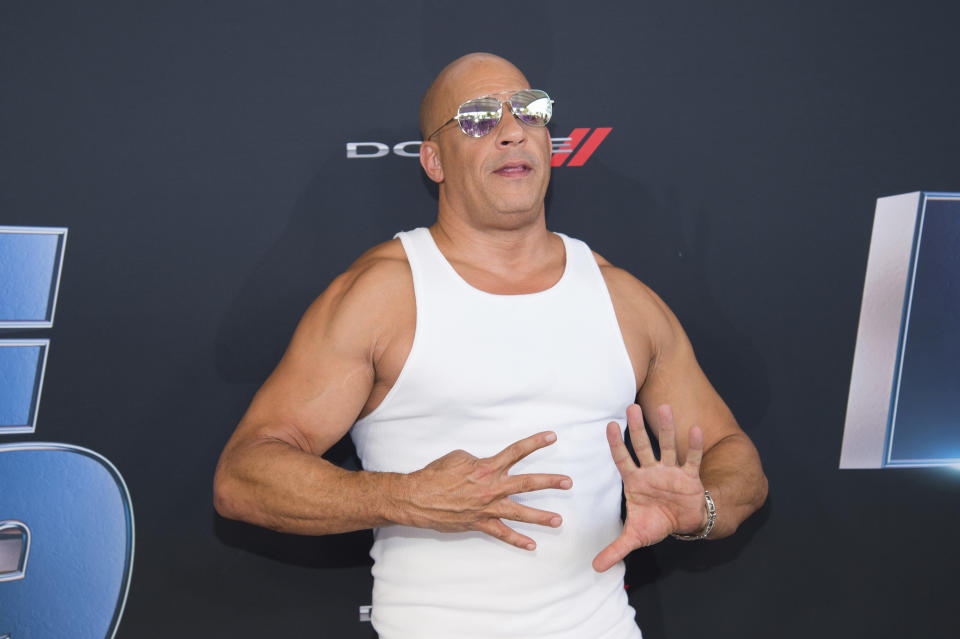 "Actor Vin Diesel attends the the Road to ""Fast & Furious 9"" Concert at Maurice A. Ferré Park on Friday, Jan. 31, 2020, in Miami, Fla. (Photo by Scott Roth/Invision/AP)"