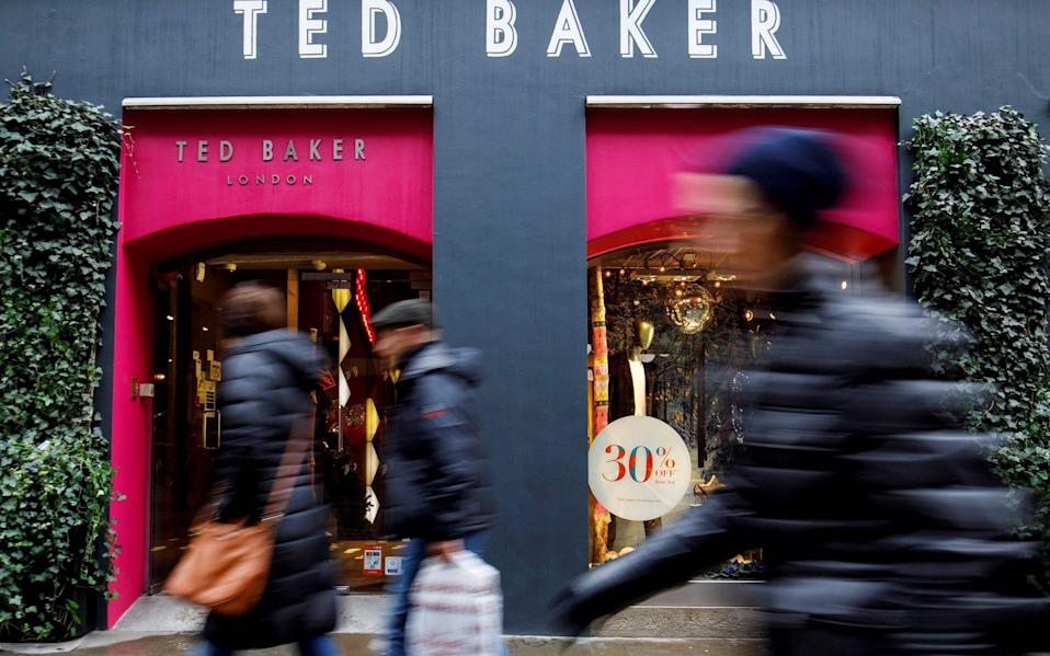 Ted Baker's store sales grew by triple digits in its latest quarter, but remain far lower than pre-Covid levels - TOLGA AKMEN/AFP via Getty Images