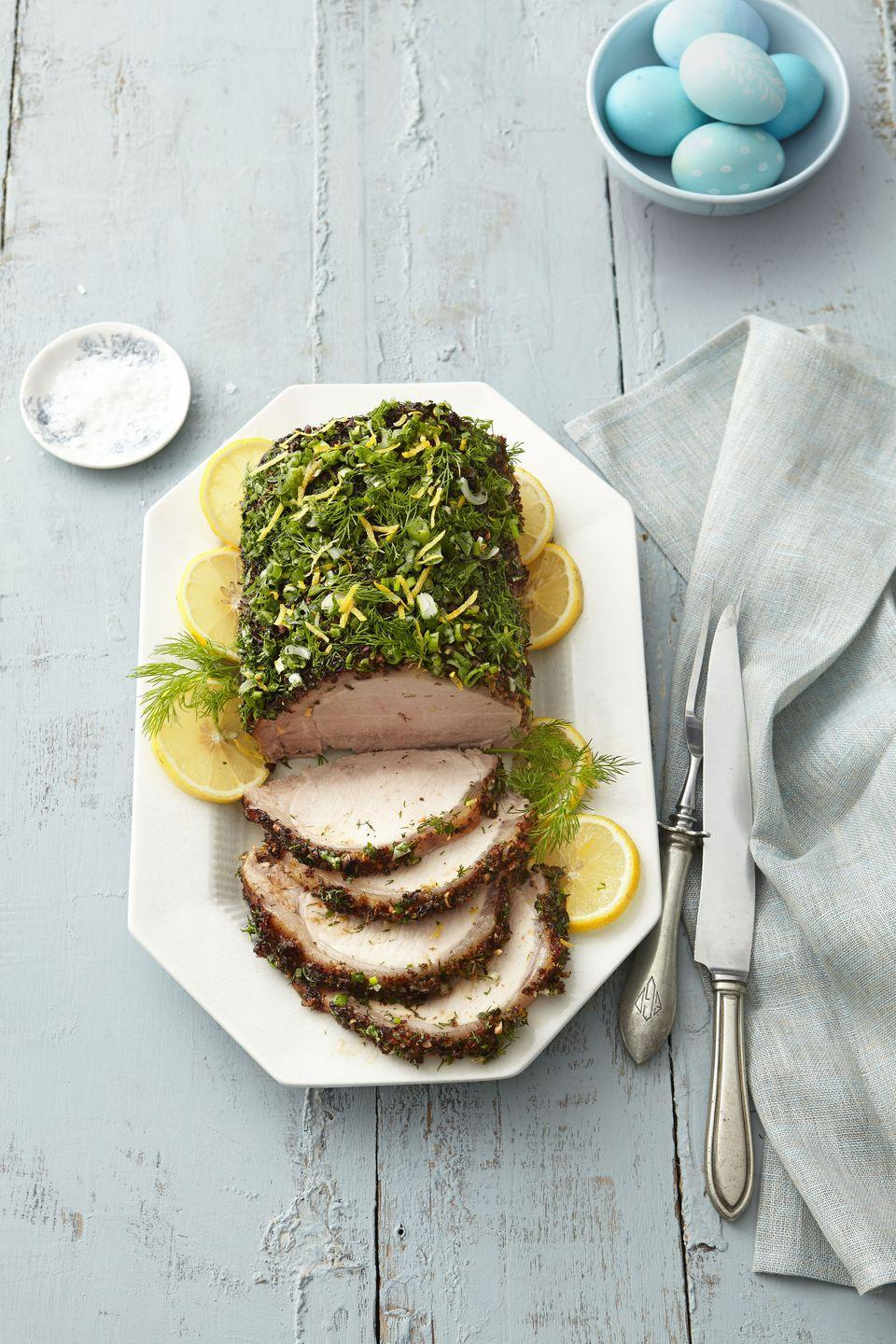 "<p>Fresh herbs make this roast worthy of any dinner party (<a href=""https://www.goodhousekeeping.com/holidays/easter-ideas/g2353/easter-dinner-menus/"" rel=""nofollow noopener"" target=""_blank"" data-ylk=""slk:Easter"" class=""link rapid-noclick-resp"">Easter</a>, anyone?).</p><p><a href=""https://www.goodhousekeeping.com/food-recipes/a1263/herb-crusted-pork-loin-recipe-ghk0414/"" rel=""nofollow noopener"" target=""_blank"" data-ylk=""slk:Get the recipe for Herb-Crusted Pork Loin »"" class=""link rapid-noclick-resp""><em>Get the recipe for Herb-Crusted Pork Loin » </em></a></p>"