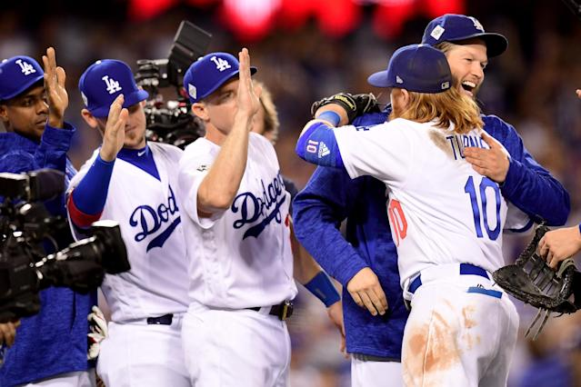 The Dodgers won Game 1 of the World Series after an excellent start by Clayton Kershaw. (Getty Images)