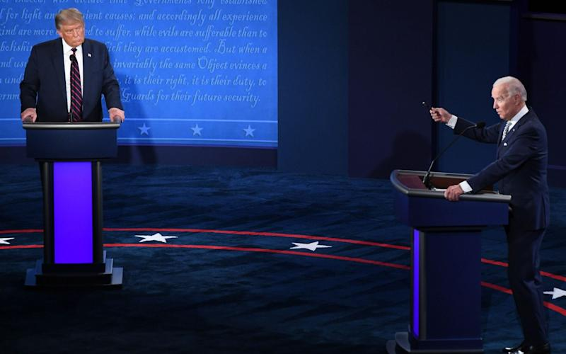 Trump and Biden during the first presidential debate - SAUL LOEB/AFP via Getty Images