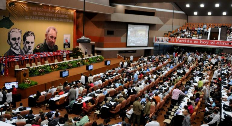 A general view of the opening of VII Congress of Cuban Communist Party (PCC) at Convention Palace in Havana, on April 16, 2016