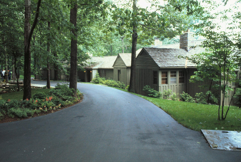 The lodge in the Catoctin Mountains in Maryland is used as a retreat for the US president.