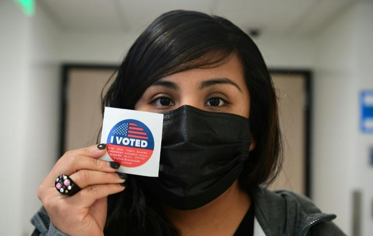 Californians have been voting by mail for weeks, but Tuesday was the last day to cast a ballot in the recall (AFP/Frederic J. BROWN)