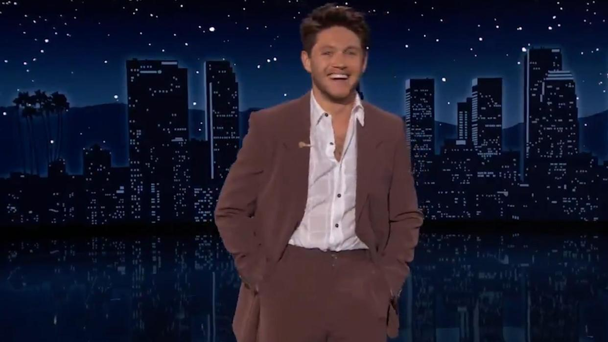 Niall Horan pokes fun at fans as he guest hosts Jimmy Kimmel