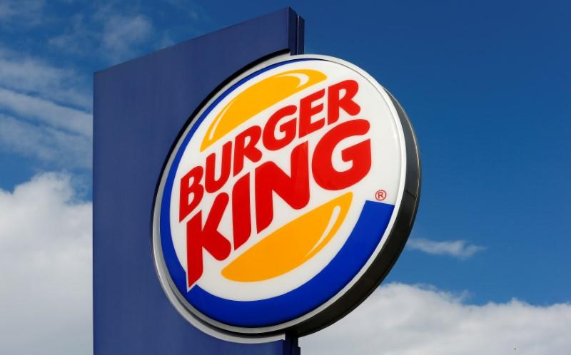 Logo of U.S. fast food group Burger King is seen at a restaurant in Bruettisellen