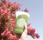 <p>The hot matcha latte is great, but this one offers the same familar, caffeinated flavor but in a refreshing cold drink option.</p>