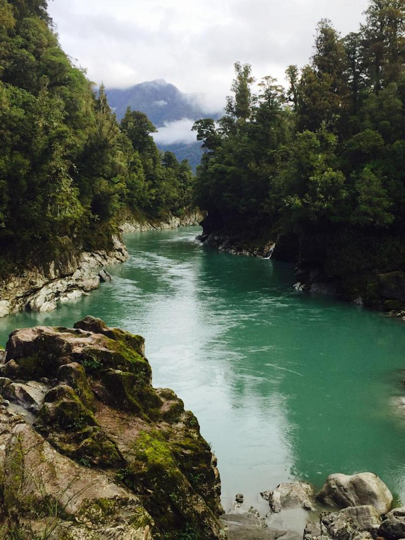 Photos don't even do Hokitika Gorge justice. Photo: Be