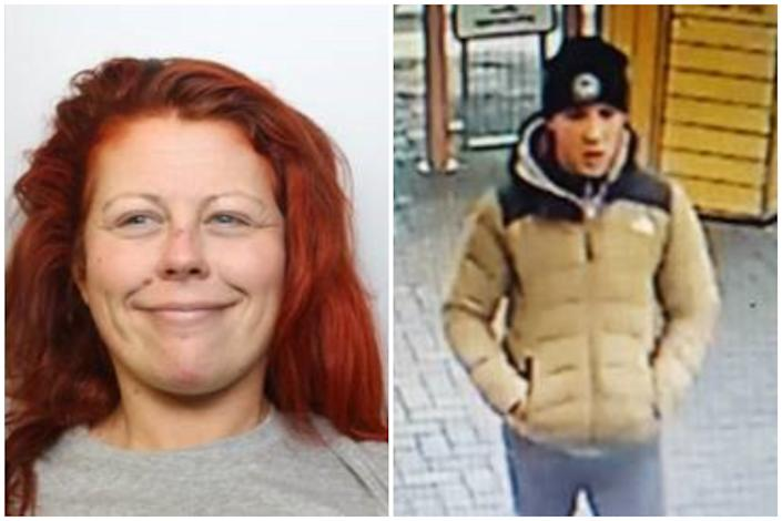 Images of Annmarie Lawton and the unknown 'Adam'. (Avon and Somerset Police)