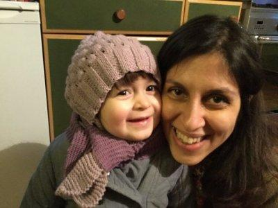 Nazanin Zaghari-Ratcliffe and her daughter Gabriella pose for a photo in London, Britain February 7, 2016. Picture taken February 7, 2016. Karl Brandt/Courtesy of Free Nazanin campaign/Handout via REUTERS