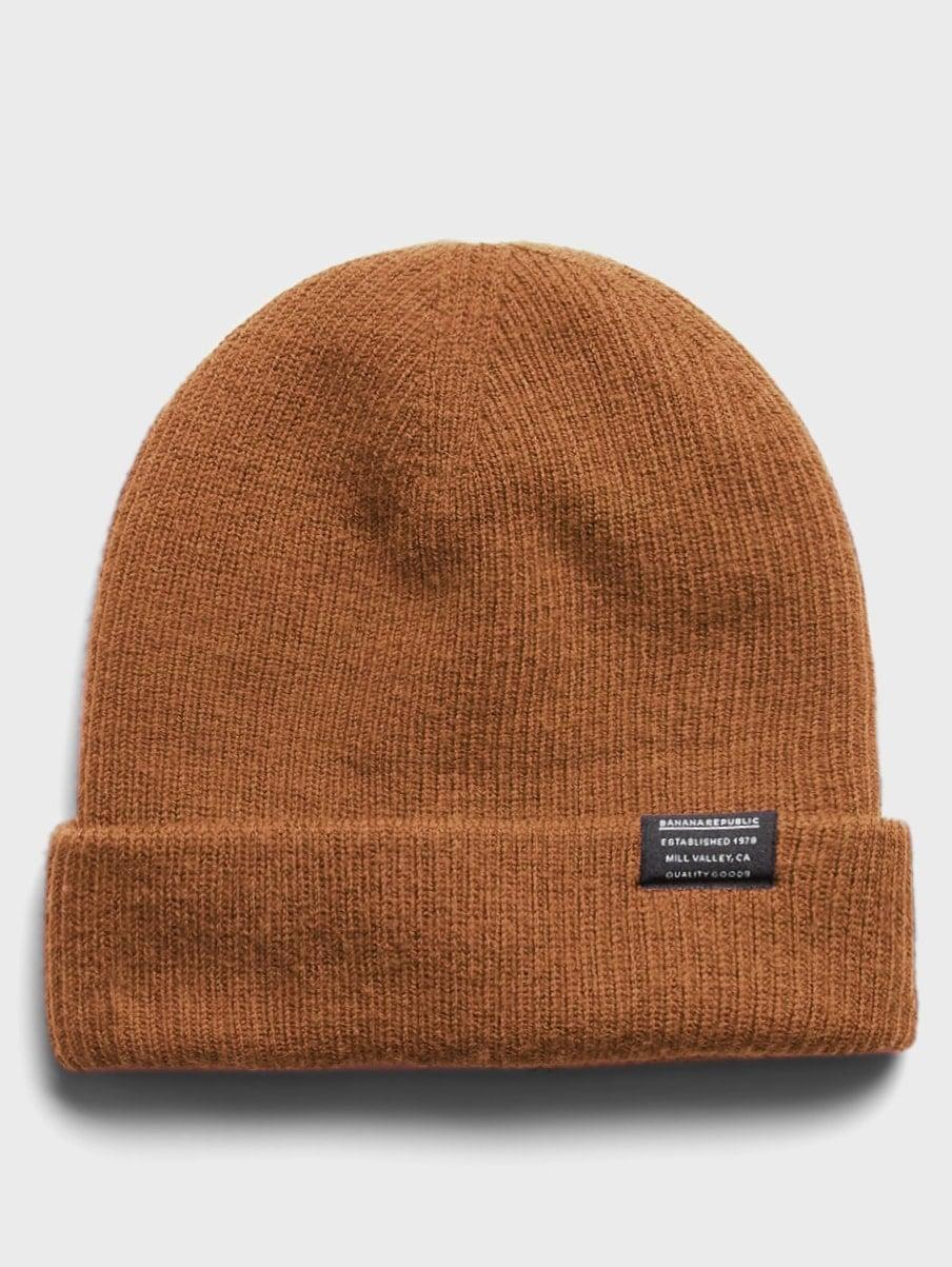 <p>Yes, this <span>Banana Republic Washable Merino Slouchy Beanie</span> ($50) will keep his head warm, but we love that it's a washable wool so it stays (easily) clean, too.</p>