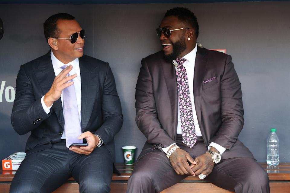 Alex Rodriguez and David Ortiz are coming to the Hall of Fame ballot in 2022. (Photo by Rob Tringali/MLB via Getty Images)