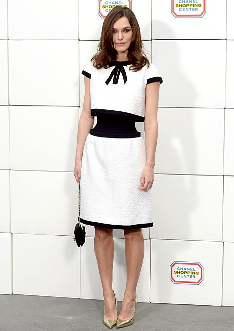 Keira Knightley Shows Off Shockingly Tiny Waist in Chanel Dress at Paris Fashion Week: Picture