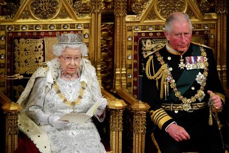 Britain's Queen Elizabeth delivers the Queen's Speech during the State Opening of Parliament in London
