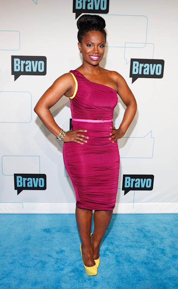 Kandi Burruss attends Bravo's 2012 Upfront Event at Center 548 on April 4, 2012 in New York City.