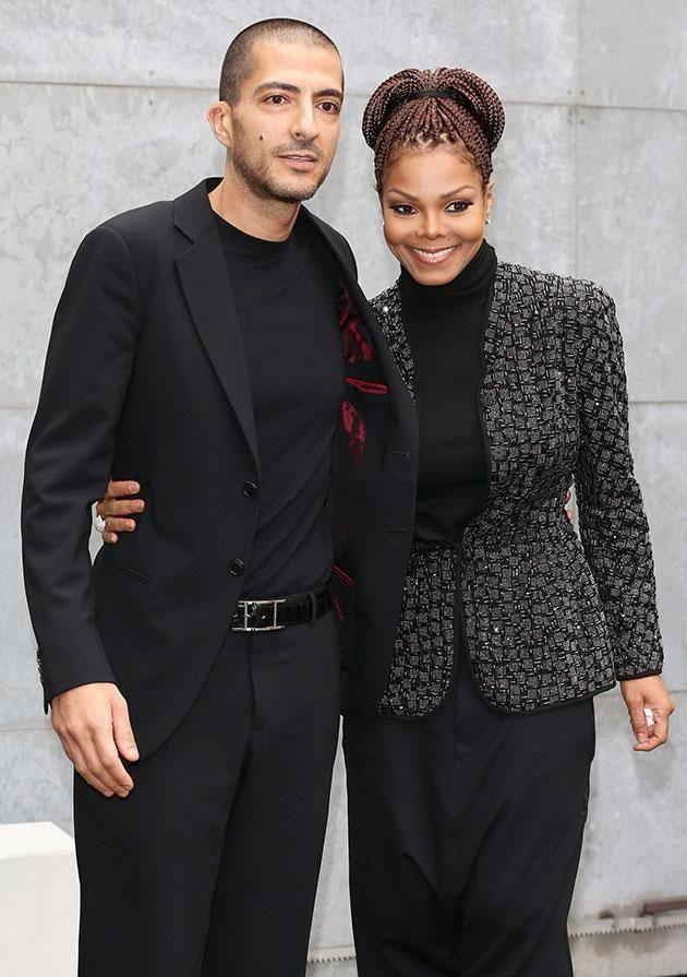 Janet with her husband. Source: Getty Images.