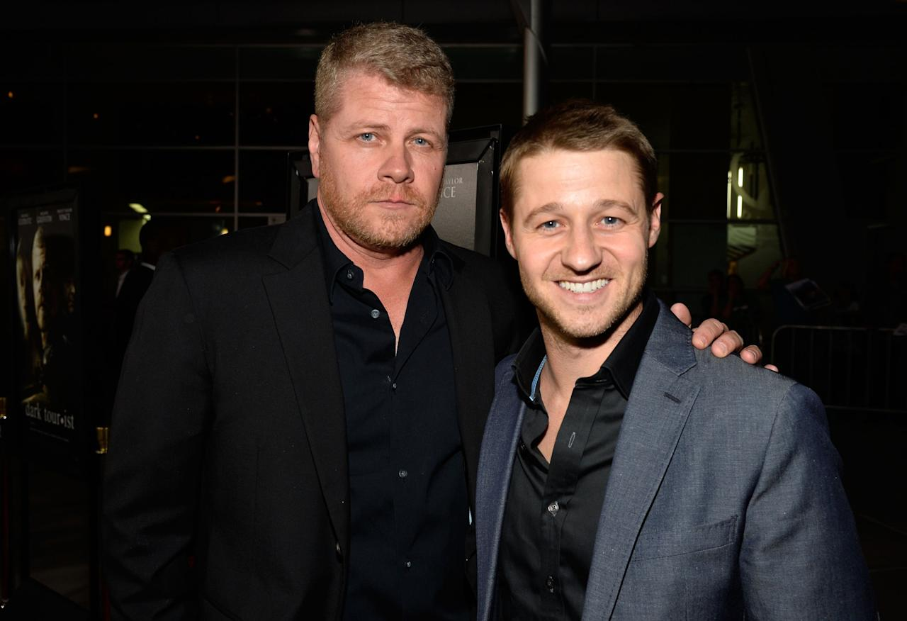 "HOLLYWOOD, CA - AUGUST 14: Actors Michael Cudlitz and Ben McKenzie arrives at the Premiere Of ""Dark Tourist"" at ArcLight Hollywood on August 14, 2013 in Hollywood, California. (Photo by Frazer Harrison/Getty Images)"