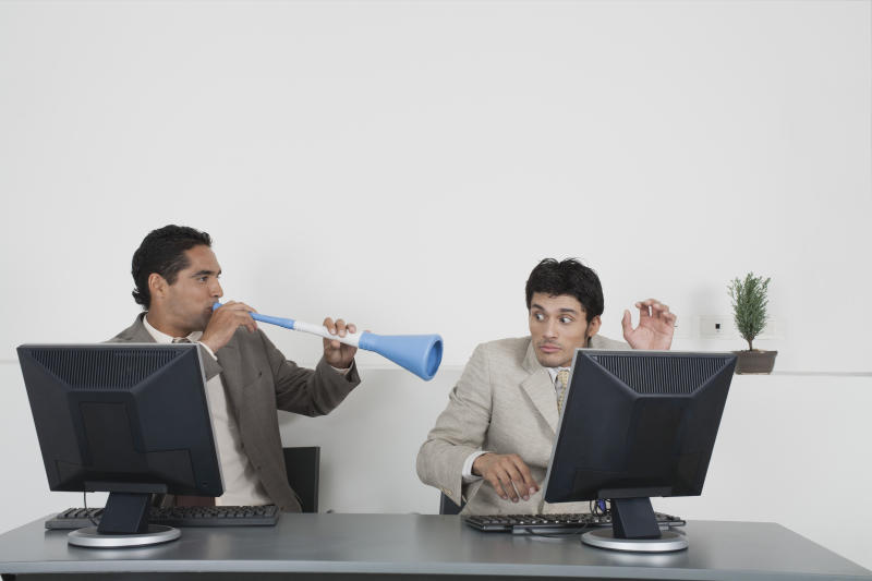 Sick of noisy colleagues? Here's what to do so. Source: Getty