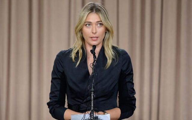 <span>Sharapova has served a 15-month drugs ban</span>