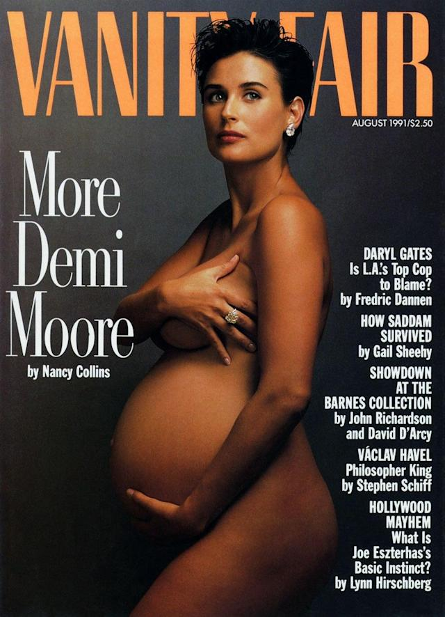 <p>Demi Moore on the cover of <em>Vanity Fair</em>, 1991 </p>