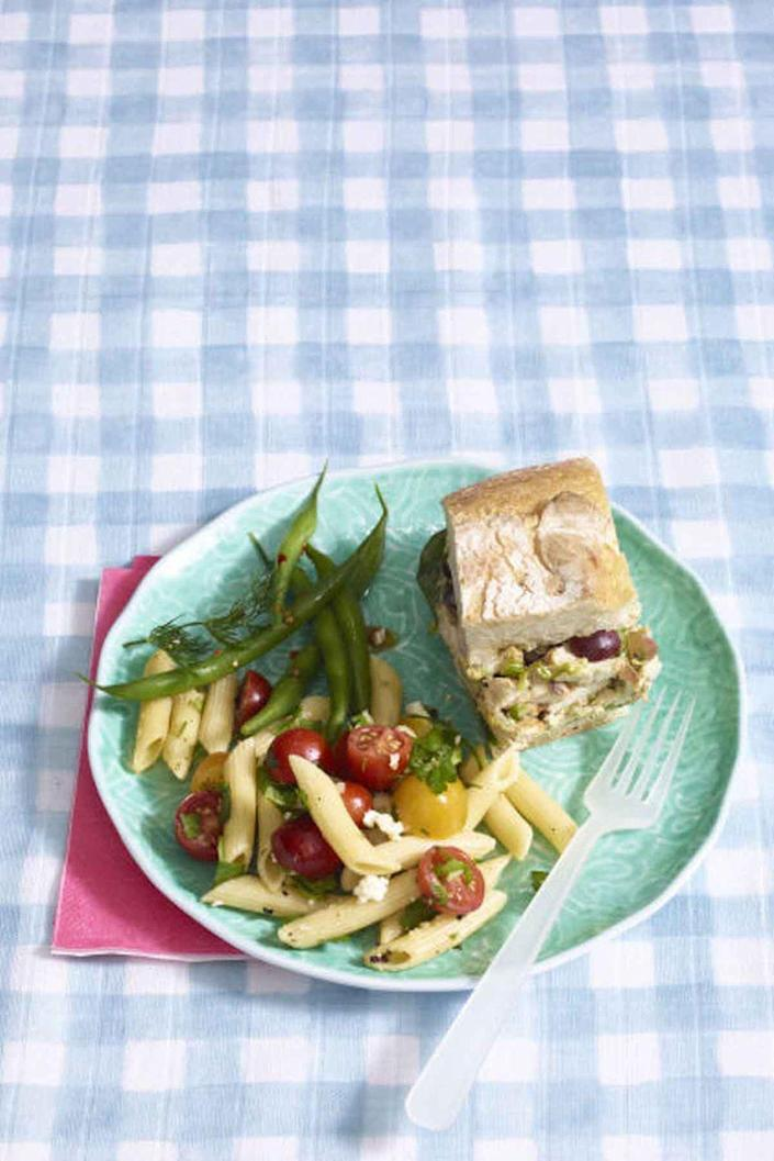 """<p>Flavor-packed chicken salad is exactly what a casual picnic calls for.</p><p><a href=""""https://www.womansday.com/food-recipes/food-drinks/recipes/a55337/pressed-grilled-chicken-salad-sandwiches-recipe/"""" rel=""""nofollow noopener"""" target=""""_blank"""" data-ylk=""""slk:Get the recipe for Pressed Gilled Chicken Salad Sandwiches."""" class=""""link rapid-noclick-resp""""><u><em>Get the recipe for Pressed Gilled Chicken Salad Sandwiches.</em></u></a></p>"""