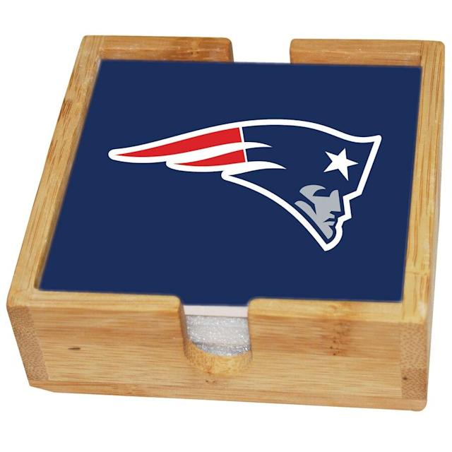 Patriots Square Coaster Set