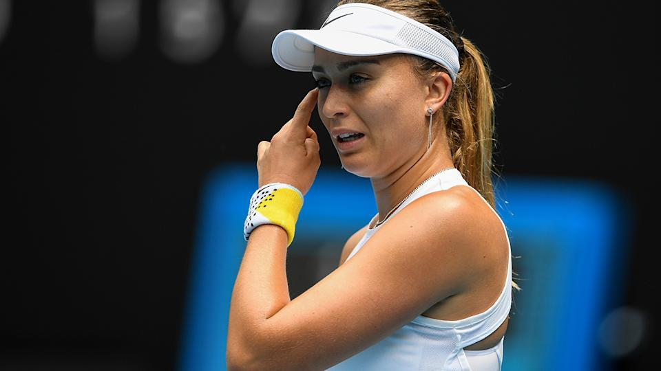 Paula Badosa, pictured here in action at the Australian Open in January.
