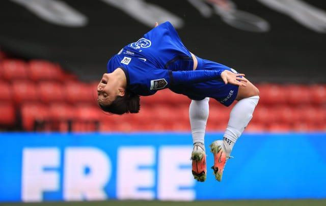 Chelsea's Sam Kerr has 20 goals to her name in the Women's Super League this season