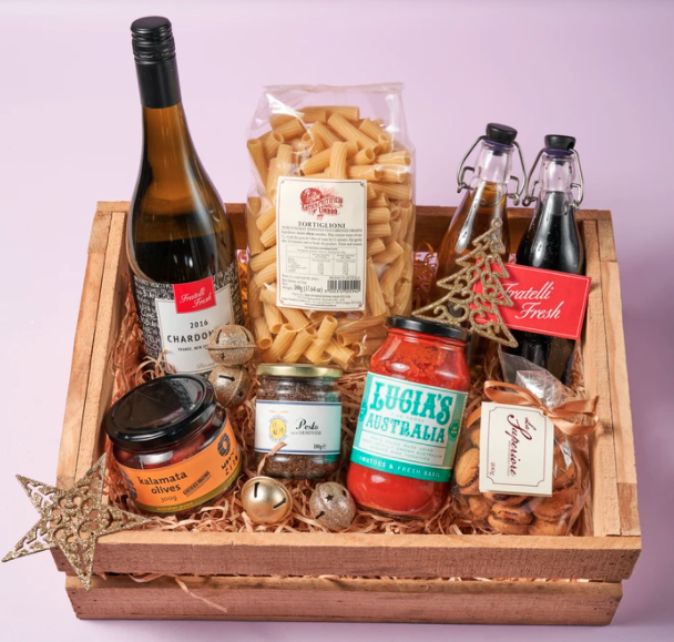 Fratelli Fresh's Classic Hamper, $100. Photo: Supplied