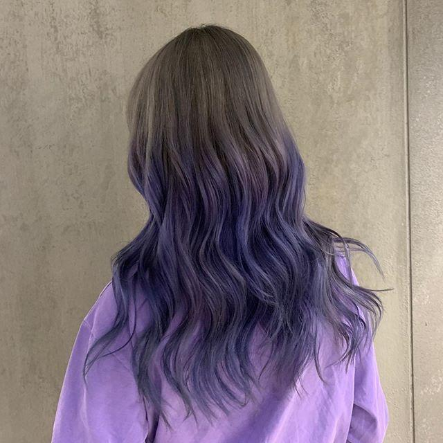 "<p>TBH, blended highlights aren't for everyone. If you want something a bit more extreme, you'll love this <strong>two-toned lavender hair color </strong>that feels more denim than it does purple.</p><p><a href=""https://www.instagram.com/p/CBK8Mz2DElX/"" rel=""nofollow noopener"" target=""_blank"" data-ylk=""slk:See the original post on Instagram"" class=""link rapid-noclick-resp"">See the original post on Instagram</a></p>"