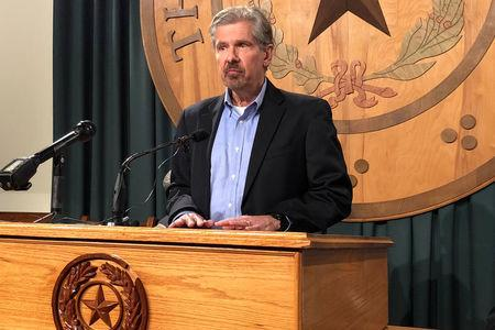 Kent Whitaker, whose son is on death row, speaks at a news conference as he waits for a decision on a clemency request at the Texas State Capitol in Austin, Texas, U.S. February 20, 2018.  REUTERS/Jon Herskovitz