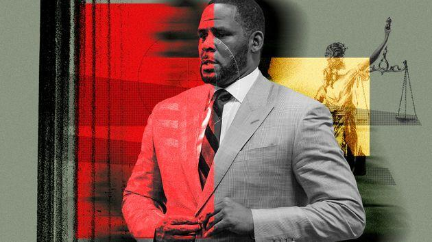 R. Kelly's criminal sexual abuse trial began in mid-August at the Brooklyn Federal Courthouse. (Photo: Illustration: Damon Dahlen/HuffPost; Photos: E. Jason Wambsgans/Chicago Tribune/AP)