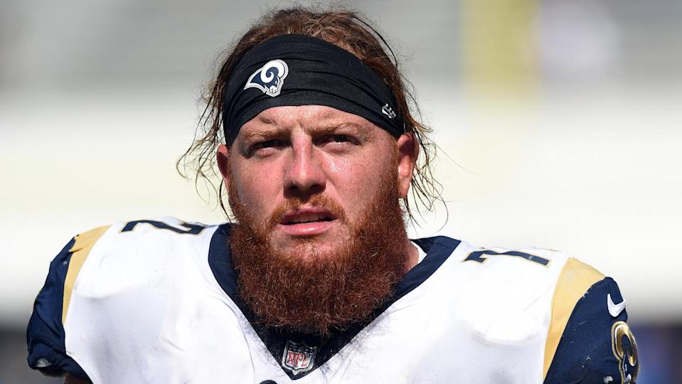 Los Angeles Rams practice squad center Aaron Neary was arrested on suspicion of DUI. (Getty Images)