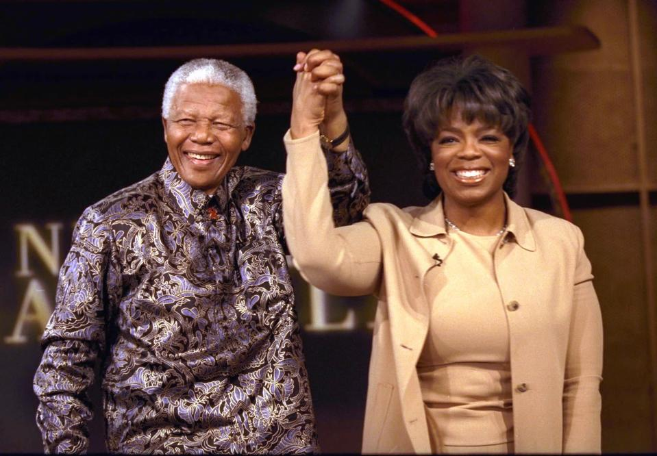Meeting of minds: Nelson Mandela and Oprah WinfreyAP