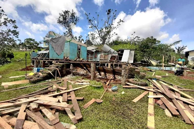 The superstorm slammed into Fiji's second-largest island Vanua Levu late Thursday, leaving a trail of destruction and affecting 93,000 people