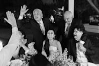 Our fathers after their witty and heartfelt toasts and roasts. I love how much joy and happiness Sarah captured in this one photo.