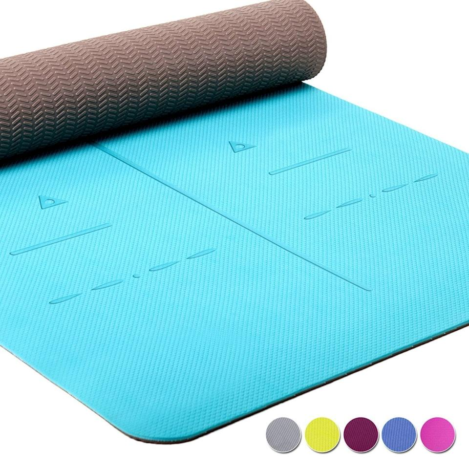 """<h3>Heathyoga Eco-Friendly Non-Slip Yoga Mat</h3><br><strong>Best For: Tall-Person</strong> <strong>Yoga</strong><br>Lose yourself in Shavasana pose with a mat that's long enough for the 5""""8 and up crew.<br><br><strong>The Hype:</strong> 4.5 out of 5 stars and 2,446 reviews on <a href=""""https://amzn.to/2XoCOkc"""" rel=""""nofollow noopener"""" target=""""_blank"""" data-ylk=""""slk:Amazon"""" class=""""link rapid-noclick-resp"""">Amazon</a><br><br><strong>Yogis Say:</strong> """"Really like this mat. Thicker and longer which is just what I was looking for in my next mat. I'm 5'9"""" and finally feel like I am fully on the mat where I lie down. It is a good grip, but I do still slip a little bit if I'm sweaty... Nothing like previous mats I've had, though."""" — TMI-TMA, Amazon Reviewer<br><br><strong>Heathyoga</strong> Eco Friendly Non Slip Yoga Mat, $, available at <a href=""""https://amzn.to/2RlsXry"""" rel=""""nofollow noopener"""" target=""""_blank"""" data-ylk=""""slk:Amazon"""" class=""""link rapid-noclick-resp"""">Amazon</a>"""