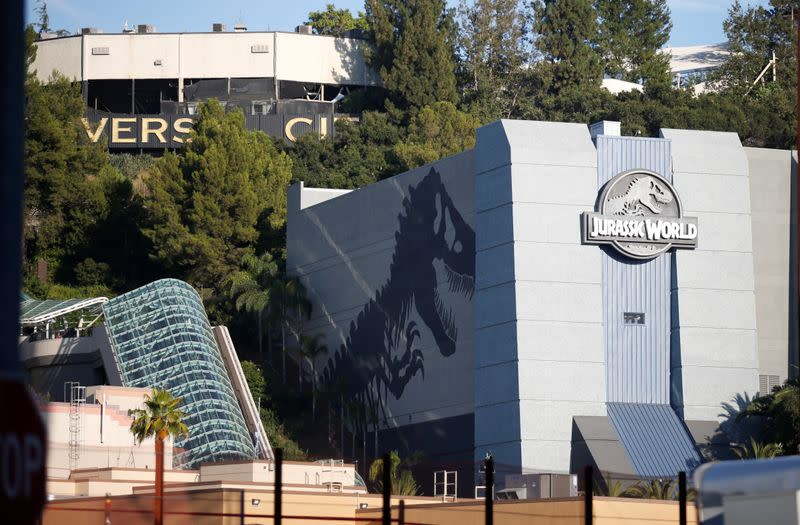 """FILE PHOTO: """"Jurassic World - The Ride"""" grand opening celebration at Universal Studios Hollywood theme park in Universal City, California"""