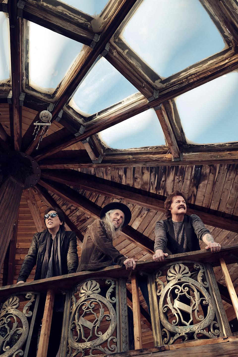 """The Doobie Brothers - from left, John McFee, Patrick Simmons and Tom Johnston - will release  their 15th full-length album, """"Liberte,"""" on Oct. 1, 2021."""