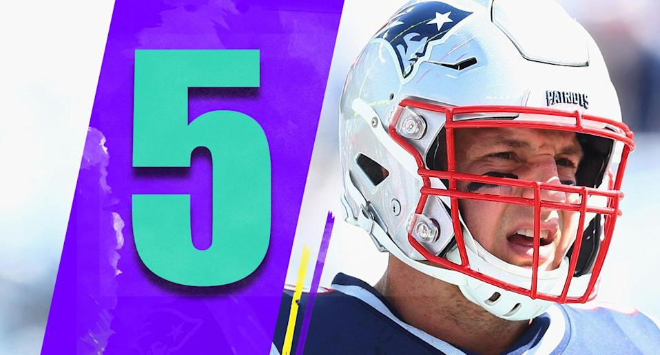<p>There aren't many more important injury-related questions in the NFL than how Rob Gronkowski comes out of the bye week. (Rob Gronkowski) </p>