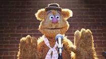 """<p>""""Fozzie – bear left."""" """"Kermit – frog right."""" Which other animal delivers such razor-sharp witticisms? Also, Fozzie proves that Paddington and Yogi aren't the only bears who can pull off a hat. (Credit: Disney) </p>"""