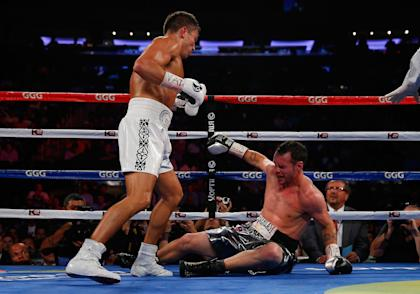 Gennady Golovkin knocked out Daniel Geale in the third round. (Getty)