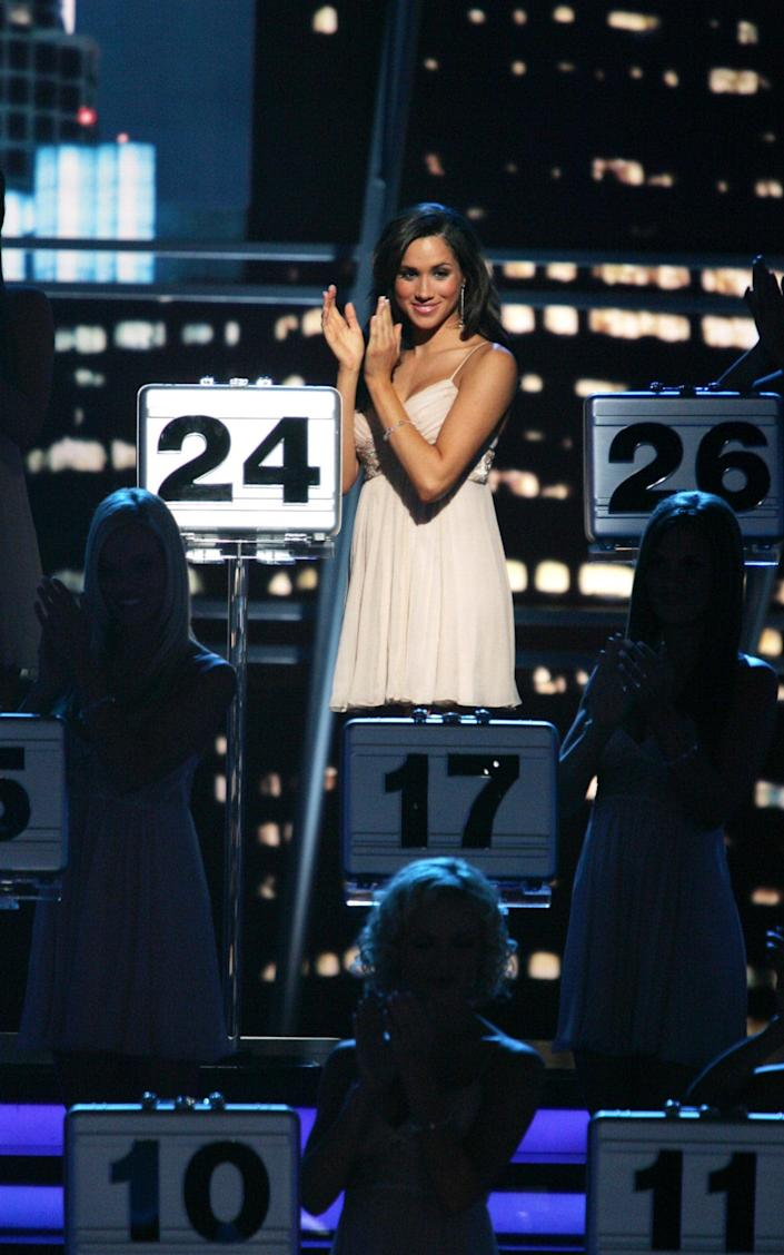 DEAL OR NO DEAL -- Episode 228 -- Pictured: Meghan Markle -- (Photo by: Trae Patton/NBCU Photo Bank/NBCUniversal via Getty Images via Getty Images) - NBC Universal via Getty Images