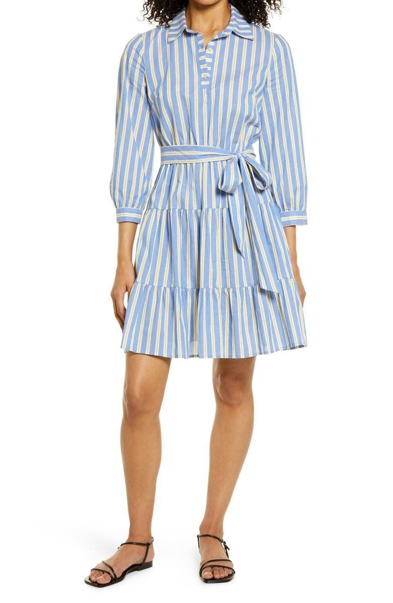 <p>For the days you just really want to wear a dress and stay cool, we'd go for the <span>Eliza J Stripe Belted Shirtdress</span> ($98). Its breathable texture won't overheat you, but it's still office ready. Plus, the tie waist is so cute and flattering.</p>