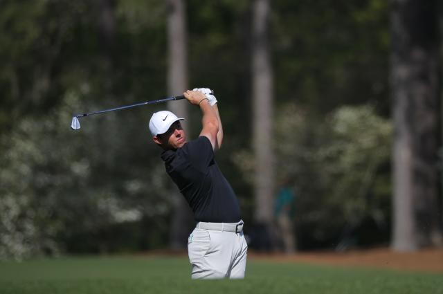 Rory McIlroy of Northern Ireland hits off the 12th tee during first round play of the 2018 Masters golf tournament at the Augusta National Golf Club in Augusta, Georgia, U.S., April 5, 2018. REUTERS/Brian Snyder