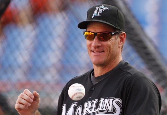 """Mr. Marlin"" Jeff Conine won't be working for the <a class=""link rapid-noclick-resp"" href=""/mlb/teams/mia/"" data-ylk=""slk:Miami Marlins"">Miami Marlins</a> anymore. (AP Photo)"